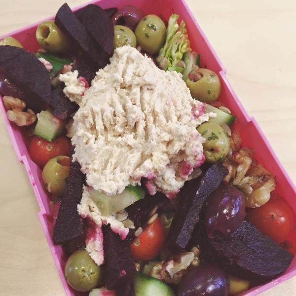 houmous-salad