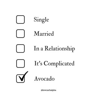 single married in a relationship it's complicated avocado