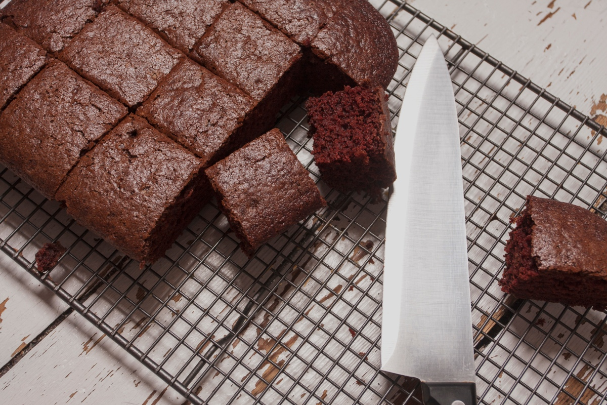 BAKED GOODS: A simple chocolate cake