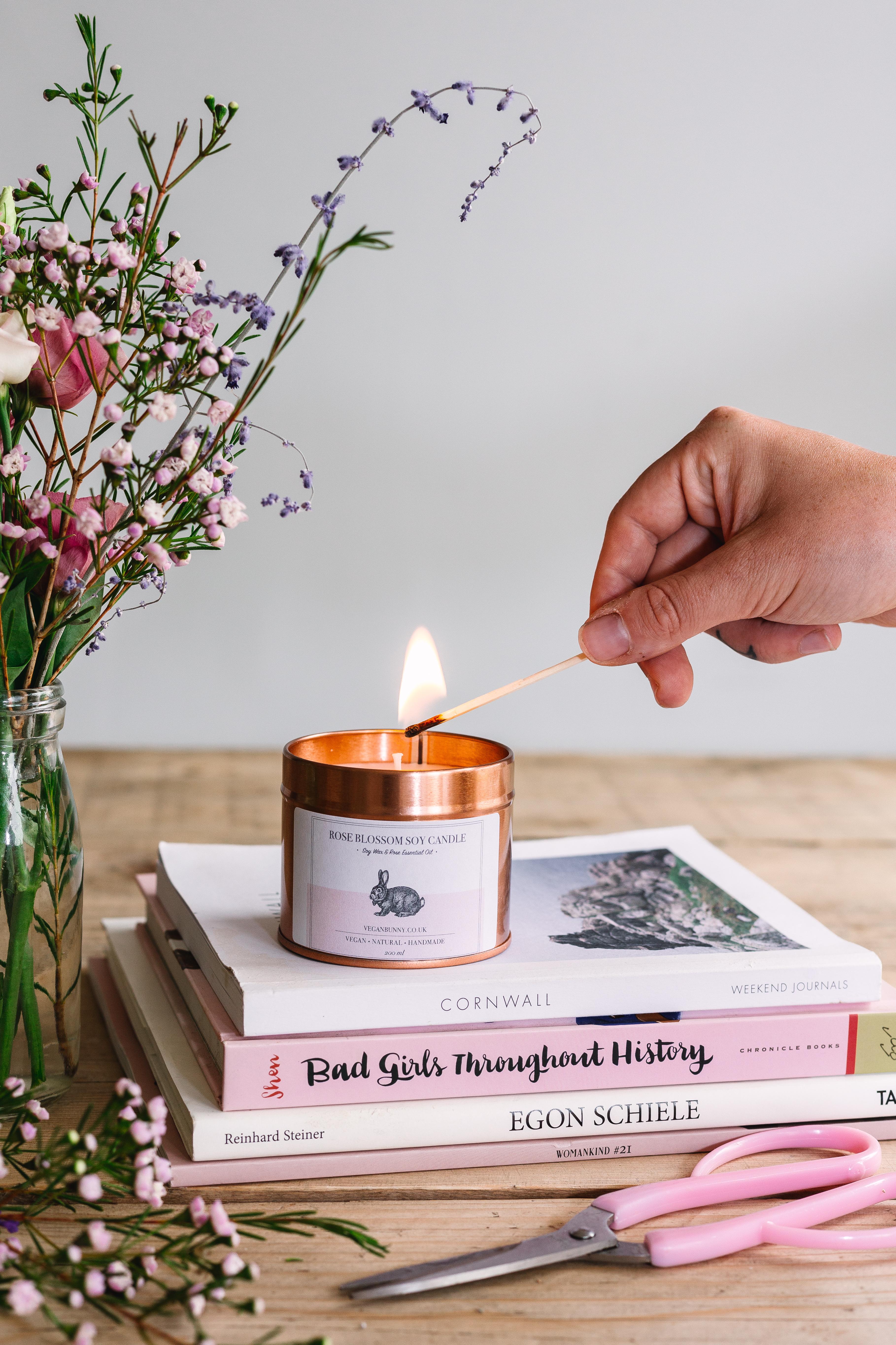 Vegan Bunny candle